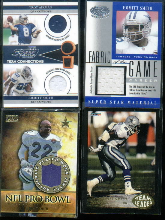 2001 Leaf Certified Materials Fabric of the Game #53CR Emmitt Smith W/145