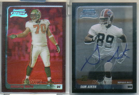 2003 Bowman Chrome #244 Sam Aiken AU D RC