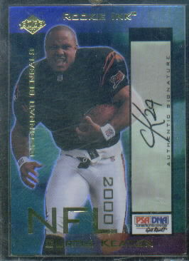 2000 Collector's Edge Masters Rookie Ink #CK Curtis Keaton Gold/1130