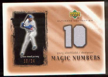 2001 Ultimate Collection Magic Numbers Game Jersey Copper #MNGS Gary Sheffield