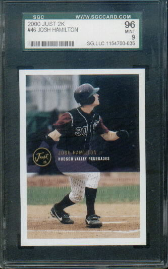 2000 Just 2k #46 Josh Hamilton Graded SGC 96 Mint 9