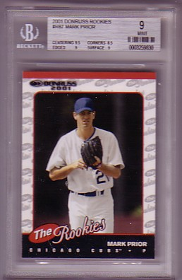 2001 Donruss Rookies #R87 Mark Prior RC ROOKIE BGS-9 MINT Chicago Cubs BGS