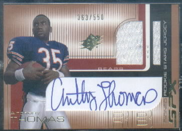 2001 SPx #109B Anthony Thomas JSY AU/550 RC