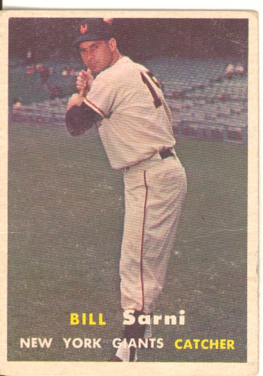1957 Topps #86 Bill Sarni