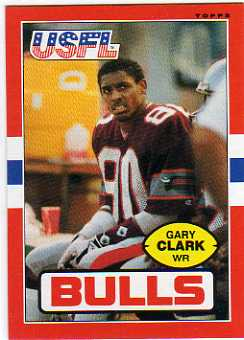 1985 Topps USFL #49 Gary Clark XRC