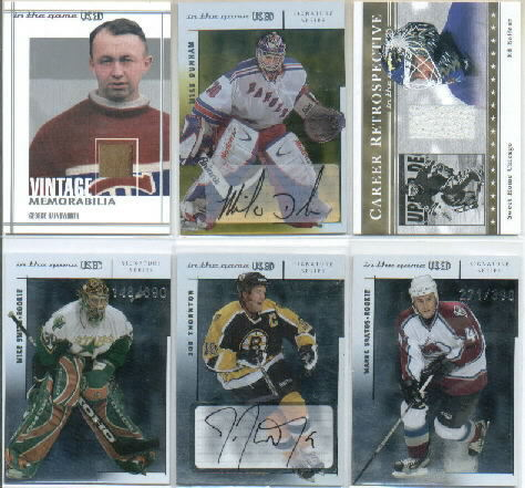 2003-04 ITG Used Signature Series Autographs Gold #MDU Mike Dunham