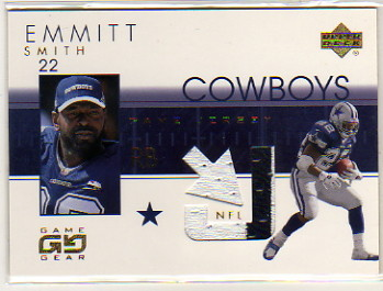 2001 UD Game Gear Jerseys #ESJ Emmitt Smith