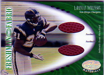 2001 Leaf Certified Materials #128 LaDainian Tomlinson FF RC