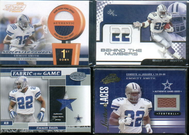 2001 Absolute Memorabilia Leather and Laces #LL21 Emmitt Smith
