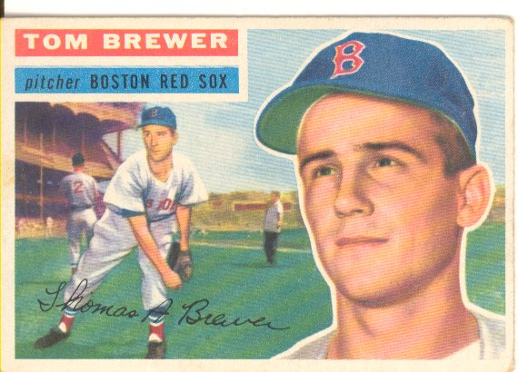 1956 Topps #34 Tom Brewer DP