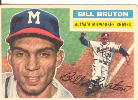 1956 Topps #185 Bill Bruton