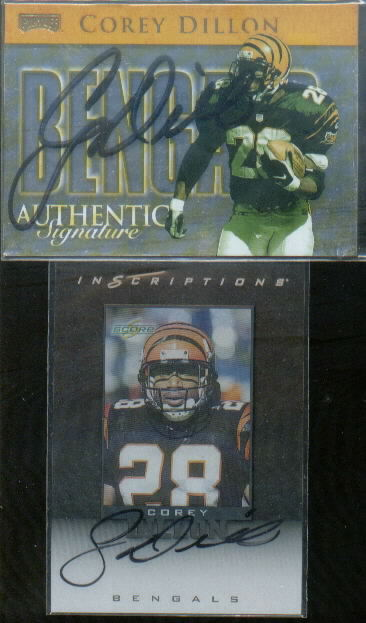 1999 Playoff Prestige SSD Checklists Autographs #CL7 Corey Dillon