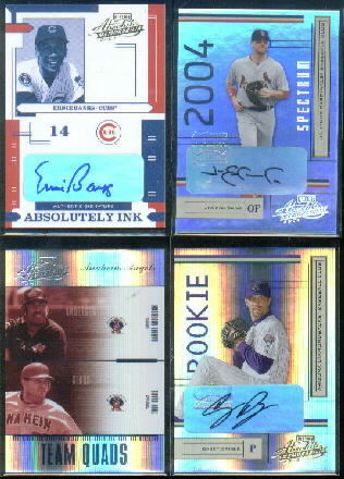 2004 Absolute Memorabilia Absolutely Ink #44 Ernie Banks/100