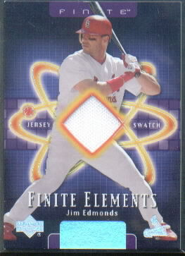 2003 Upper Deck Finite Elements Game Jersey #JE Jim Edmonds