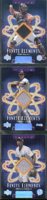 2003 Upper Deck Finite Elements Game Jersey #MI Mike Piazza