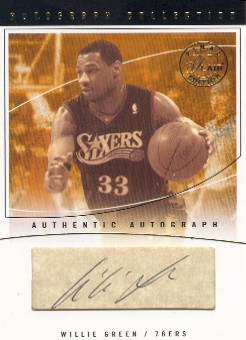 2003-04 Flair Final Edition Autograph Collection 25 #WG Willie Green