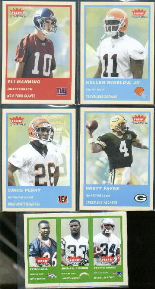 2004 Fleer Tradition Green #359 Tatum Bell/Michael Turner/Cedric Cobbs