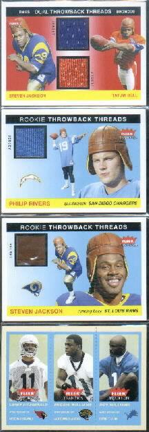 2004 Fleer Tradition Rookie Throwback Threads Dual Jerseys #SJTB Steven Jackson/Tatum Bell