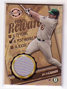2001 Donruss Class of 2001 Final Rewards #RW1 J.Giambi MVP Jsy/250