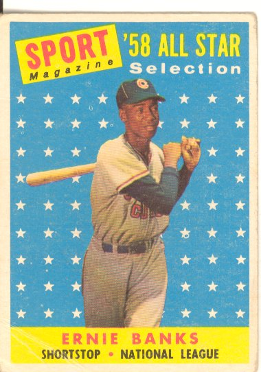 1958 Topps #482 Ernie Banks AS