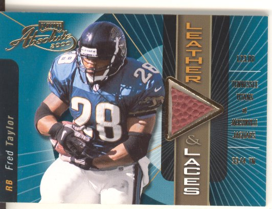 2000 Absolute Leather and Laces #FT28B Fred Taylor/175