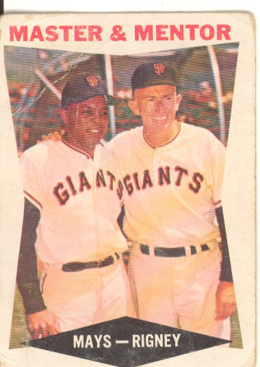 1960 Topps #7 Master and Mentor/Willie Mays/Bill Rigney MG