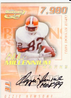 2001 Quantum Leaf All-Millennium Marks Autographs #AMAR12 Ozzie Newsome