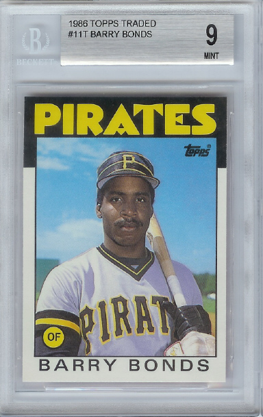 1986 Topps Traded #11T Barry Bonds XRC