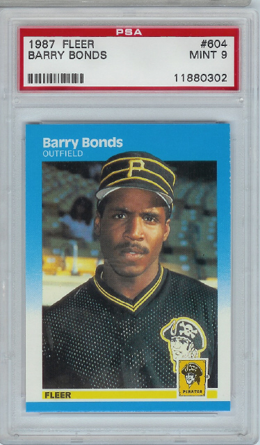 1987 Fleer Barry Bonds Rookie PSA Graded MINT 9
