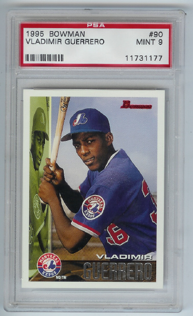 1995 Bowman Vladimir Guerrero Rookie PSA Graded Mint 9