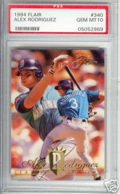 1994 Flair Alex Rodriguez Rookie PSA Graded GEM MINT 10
