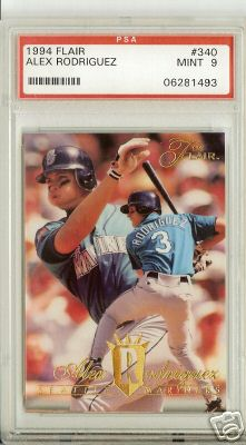 1994 Flair Alex Rodriguez Rookie PSA Graded MINT 9