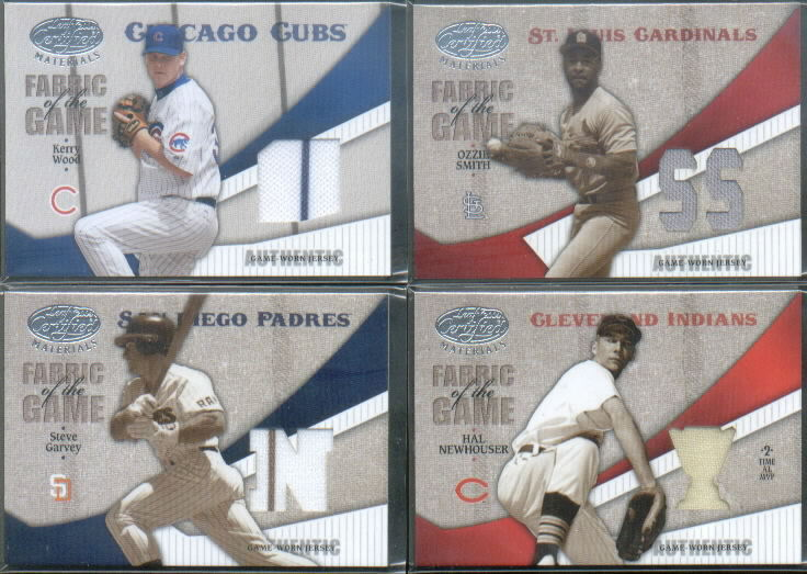 2004 Leaf Certified Materials Fabric of the Game Position #88 Ozzie Smith Cards Jsy/100
