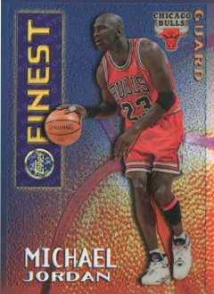 1995-96 Finest Mystery Borderless Refractors/Gold #M1 Michael Jordan
