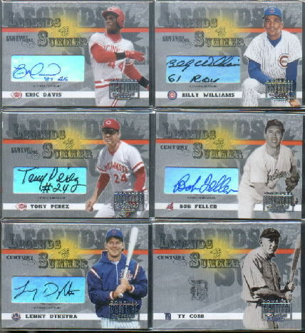 2003 Donruss Signature Legends of Summer Autographs Notations Century #5B Billy Williams 61 ROY