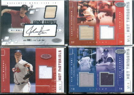 2003 Hot Prospects MLB Hot Tandems #LBAD Lance Berkman Bat/Adam Dunn Jsy