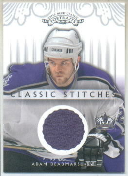 2003-04 Upper Deck Classic Portraits Classic Stitches #CSAD Adam Deadmarsh