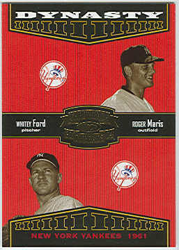 2004 Throwback Threads Dynasty #4 R.Maris/W.Ford