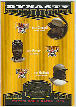 2004 Throwback Threads Dynasty #10 Stargell/Parker/Madlock