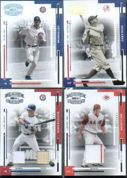 2004 Throwback Threads Material Combo #190 Hank Blalock Bat-Jsy/50
