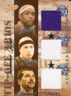 2004-05 Fleer Authentix Tip-Off Trios #SK Chris Webber/Mike Bibby/Peja Stojakovic