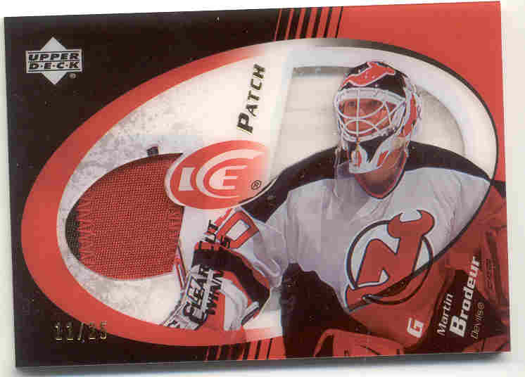 2003-04 Upper Deck Ice Clear Cut Winner Patches #CCMB Martin Brodeur