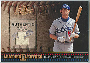 2004 Leather and Lumber Leather in Leather Materials #7 Shawn Green Ball/50