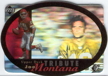 1996 SPx #UDT19 Joe Montana Tribute