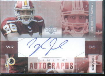 2003 Upper Deck Finite Autographs #TA Taylor Jacobs/409