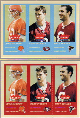 2004 Fleer Tradition #358 Luke McCown RC/Cody Pickett RC/Matt Schaub RC