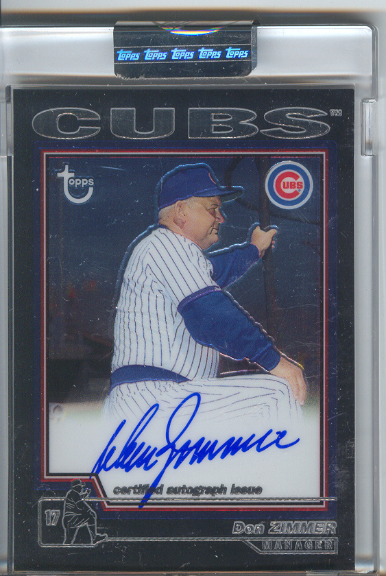 2004 Topps Retired Signature Autographs #DZ Don Zimmer D