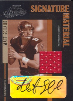 2004 Absolute Memorabilia Signature Material #SM20 Matt Schaub/280
