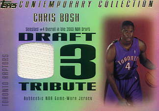 2003-04 Topps Contemporary Collection Draft 03 Tribute #CB Chris Bosh
