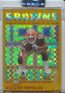 2004 Topps Chrome Gold Xfractors #225 Kellen Winslow